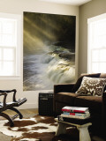Sunbeams on Tahquamenon Falls, Upper Peninsula, Michigan, USA Wall Mural by Don Grall