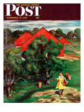 """Apple Picking Time,"" Saturday Evening Post Cover, September 27, 1947 Giclee Print by John Falter"
