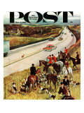"""Foxhunters Outfoxed,"" Saturday Evening Post Cover, December 2, 1961 Giclee Print by John Falter"
