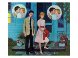 """Goodnight Kiss,"" July 28, 1962 Giclee Print by Amos Sewell"