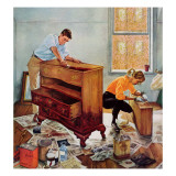 """Refinishing an Heirloom,"" September 24, 1960 Giclee Print by George Hughes"