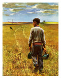"""Amber Waves of Grain,"" September 8, 1945 Giclee Print by John Falter"