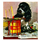 """""""Butch & Paint Cans,"""" October 29, 1949 Giclee Print by Albert Staehle"""