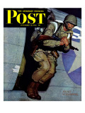 """Paratrooper,"" Saturday Evening Post Cover, September 12, 1942 Giclee Print by Mead Schaeffer"