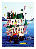 """Lake House,"" July/Aug 1983 Giclee Print by Ann Thompson"