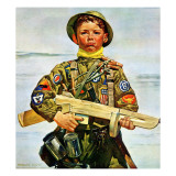 """Commando Kid,"" October 14, 1944 Giclee Print by Howard Scott"