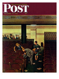"""""""Lost Shoe,"""" Saturday Evening Post Cover, December 14, 1946 Giclee Print by Stevan Dohanos"""