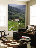 Farmhouse and Countryside Near Besalu Wall Mural by Dennis Johnson