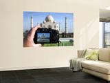 Tourist Taking Picture of Taj Mahal Wall Mural by Huw Jones