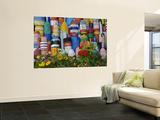 Colorful Buoys on Wall, Rockport, Massachusetts, USA Wall Mural by Adam Jones