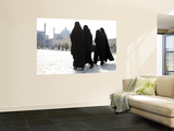 Muslim Women Walking Towards Imam Mosque Wall Mural by Christopher Herwig