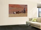 Cowboys Herding Horses in the Big Horn Mountains, Shell, Wyoming, USA Veggmaleri av Joe Restuccia III