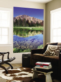 Sawtooth Mountains Reflected in Fourth of July Lake, Idaho, USA Wall Mural by Rob Tilley