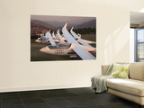Last Light on Gliders at Fai World Sailplane Grand Prix, Vitacura Airfield, Santiago, Chile Wall Mural by David Wall