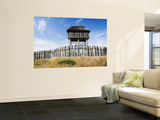 Lookout Tower and Fence at Yoshinogari Old Village Tourist Park Wall Mural by Shayne Hill