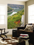 Kanawha River Overlook, Hawks Nest State Park, Anstead, West Virginia, USA Wall Mural by Walter Bibikow