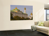 Green Copper Roofs and Golden Domes of Great Kremlin Palace Wall Mural by Tim Makins