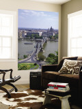 Szechenyi Lanchid Chain Bridge, Danube River, Budapest, Hungary Wall Mural by Jim Engelbrecht