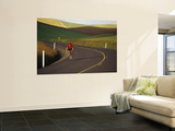 Road Bicycling in the Palouse Country Near Pullman, Washington, USA Wall Mural by Chuck Haney