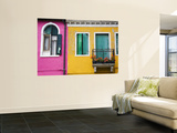 Colorful Burano City Homes, Italy Wall Mural by Terry Eggers