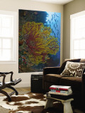 Colorful Sea Fan Or Gorgonian Coral, Raja Ampat, Indonesia Mural Premium