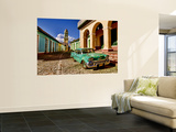 Old Worn 1958 Classic Chevy, Trinidad, Cuba Wall Mural by Bill Bachmann