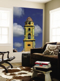 Beautiful Color Steeple in Church, Trinidad, Cuba Wall Mural by Bill Bachmann