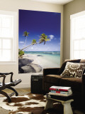 Palm Trees and Long Haul Beach Wall Mural by Greg Johnston