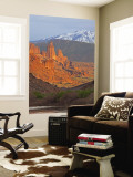 The Fisher Towers in Evening Light Near Moab, Utah, USA Wall Mural by Chuck Haney