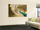 Spiral Staircase in Vizhinjam Lighthouse Wall Mural by Tim Makins