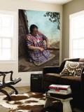 Kakchiquel Woman Weaving Wall Mural by Diego Lezama