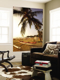 Outrigger Canoe, Mauna Kea Beach, Kaunaoa Bay, Kohala Coast, Hawaii, USA Wall Mural by Douglas Peebles