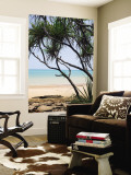 Vestey&#39;s Beach Through Pandanus Palms Wall Mural by Andrew Watson