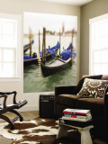Selective Focus of Gondola in the Canals of Venice, Italy Wall Mural by Terry Eggers