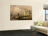 Rainbow Over Honolulu, Hawaii, USA Wall Mural by Savanah Stewart