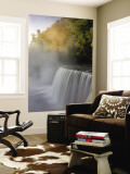 Autumn Sunrise on Tahquamenon Falls, Upper Peninsula, Michigan, USA Wall Mural by Don Grall