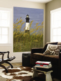 Lighthouse and Seaoats in Early Mooring, Tybee Island, Georgia, USA Wall Mural by Joanne Wells