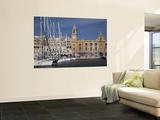 Marina and Waterfront, Birgu, Vittoriosa, Valletta, Malta Wall Mural by Walter Bibikow