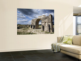 Arch of Triumph at Ruined Roman City of Volubilis Wall Mural by Orien Harvey