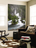 Tarawera Falls, Tarawera River, North Island, New Zealand Wall Mural by David Wall