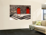Bright Red Doors of Historic Chapel in Chelsea Wall Mural by Michelle Bennett