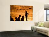 Shadows on Ancient Citys Walls at Night Wall Mural by Izzet Keribar