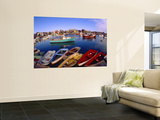 Town Buildings and Colorful Boats in Bay, Rockport, Maine, USA Wall Mural by Jim Zuckerman