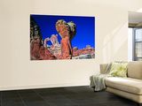 Angel Arch and the Molar in the Salt Creek Valley, Canyonlands National Park, Utah, USA Wall Mural by Bernard Friel