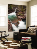 St. Mary Falls, Glacier National Park, Montana, USA Wall Mural by Jamie & Judy Wild