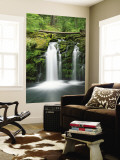 View of Whitehorse Falls, Umpqua National Forest, Oregon, USA Wall Mural by Dennis Flaherty
