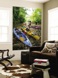Kayaking on Kalihiwai Stream, Hawaii, USA Wall Mural by Douglas Peebles