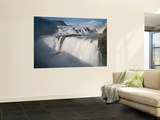 The Hvita River Roars Over Gullfoss Waterfall, Iceland Mural por Don Grall
