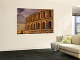 Famous El Jem Roman Amphitheater, El Jem, Tunisia, Africa Vægplakat i topklasse af Bill Bachmann
