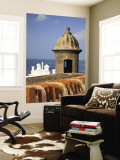 Lookout Tower at Fort San Cristobal, Old San Juan, Puerto Rico, Caribbean Wall Mural by Dennis Flaherty